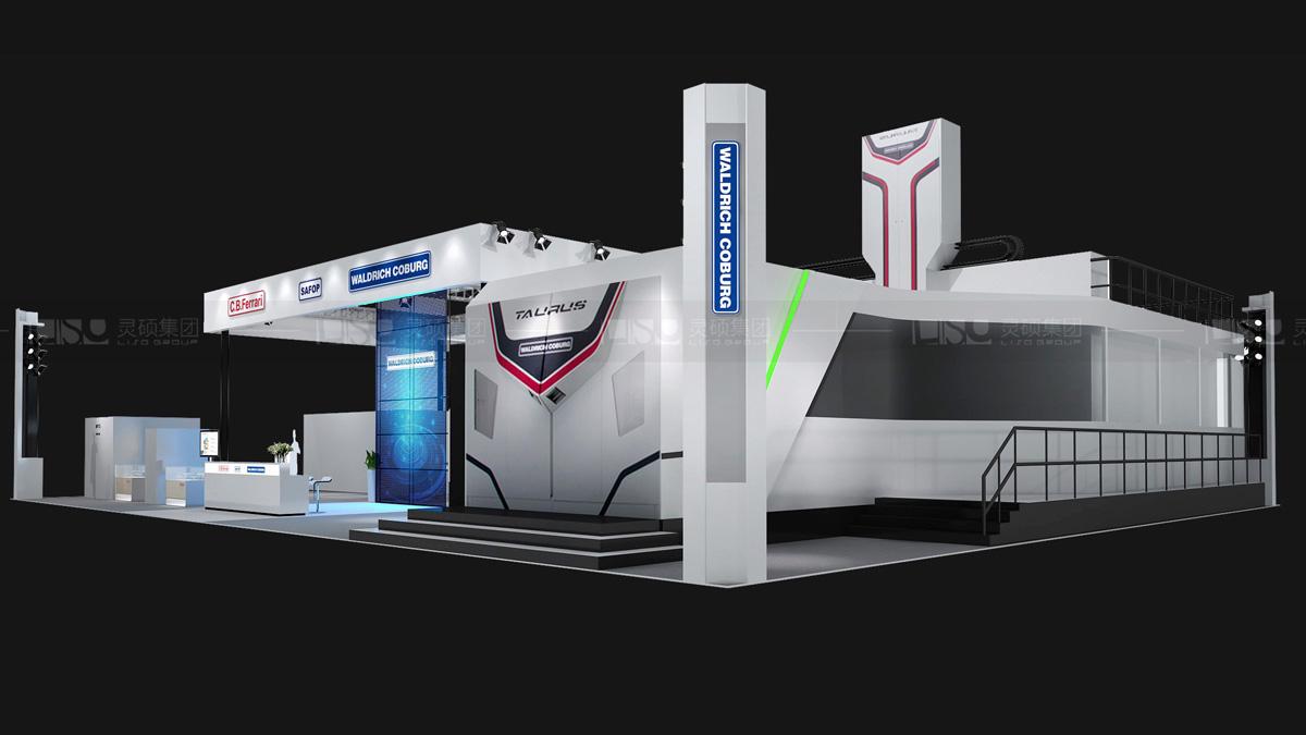 京城-进博会展会展台设计案例