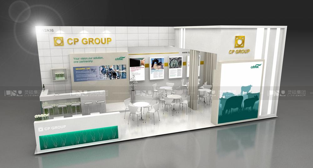 正大-医疗展展台设计案例