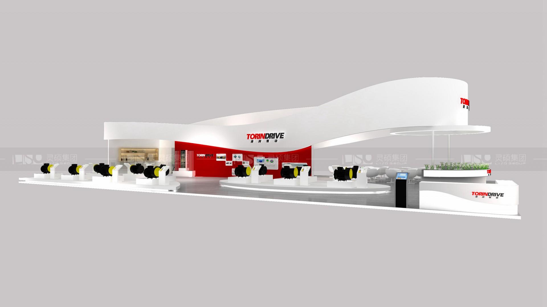 桑瑞斯-电梯展展台设计案例