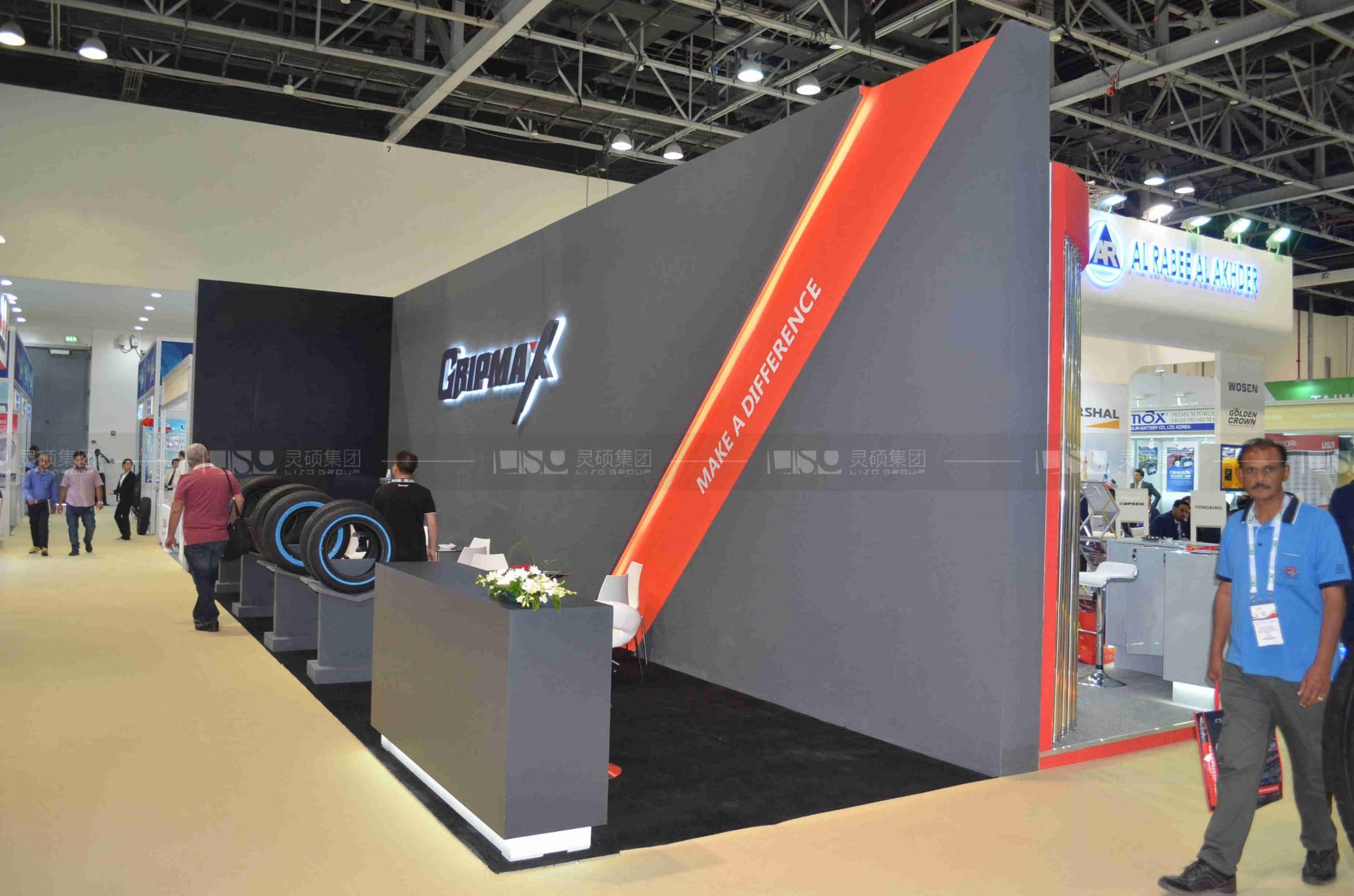 格力普-迪拜汽配展台设计搭建案例