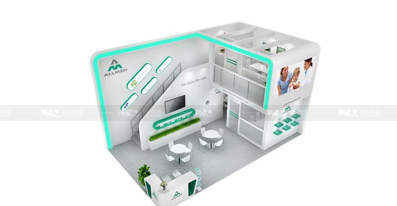奥美-德国medica展台设计搭建
