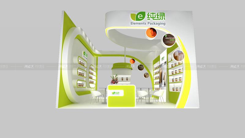 纯绿-酒店用品展台设计案例