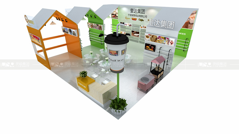 亮奎-酒店用品展台设计案例