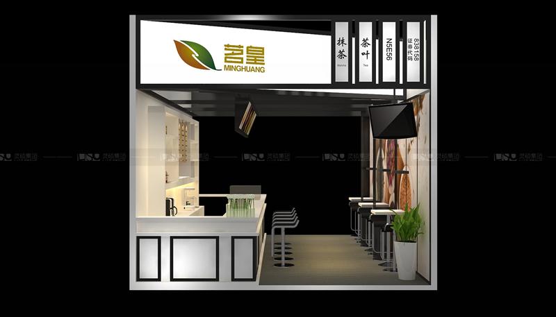 茗皇-酒店用品展台设计案例