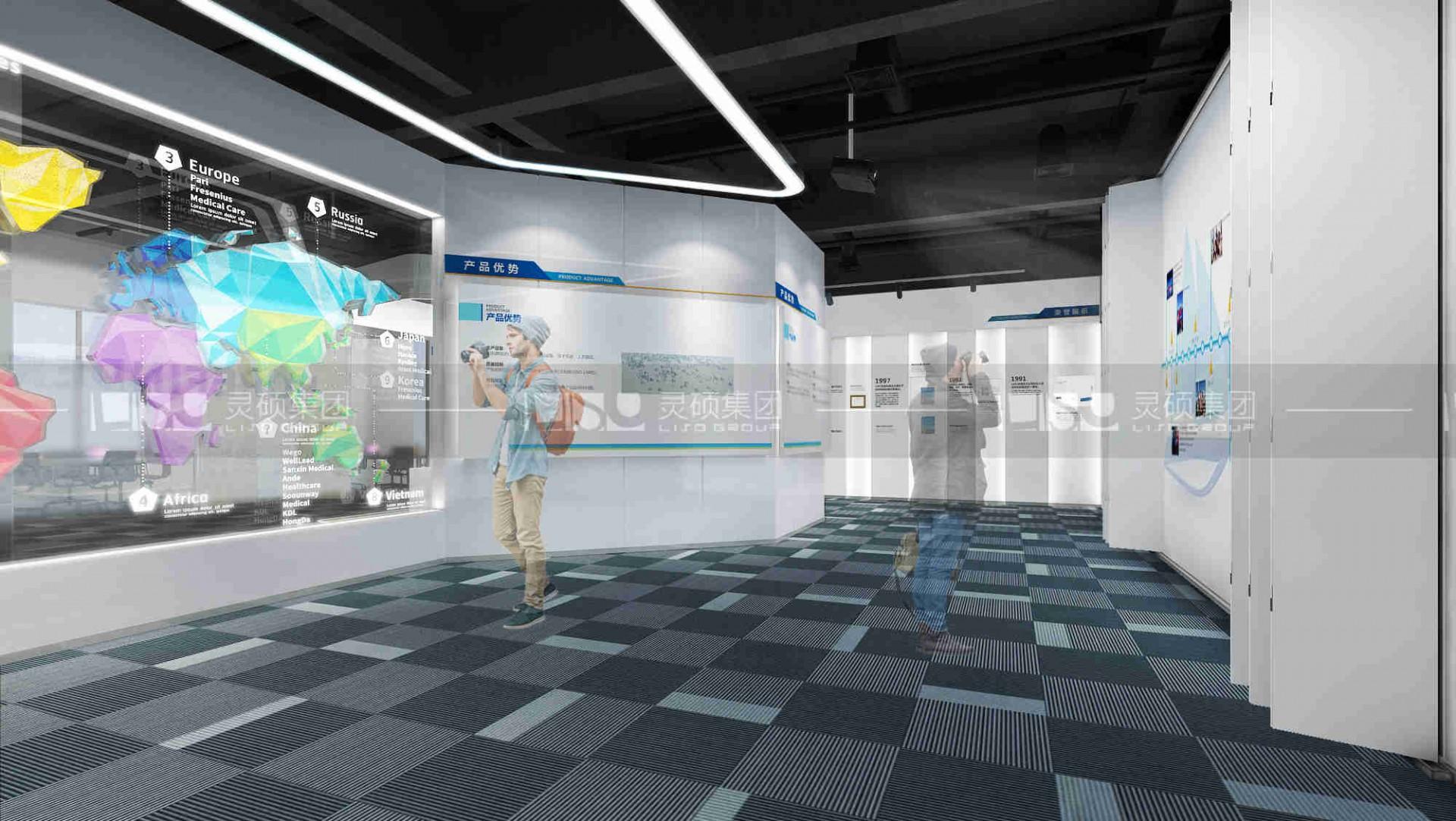 恒方大企业展厅设计搭建案例