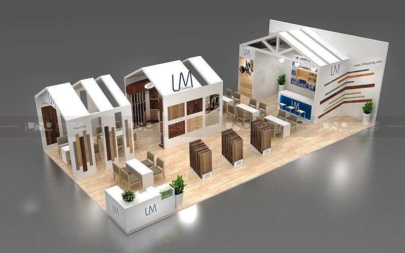 伟佳-地材展台设计搭建案例