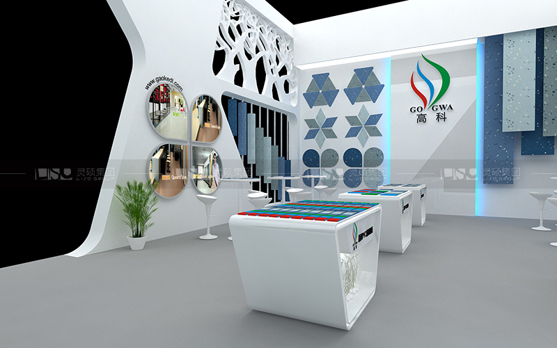 高科-地材展台设计搭建案例