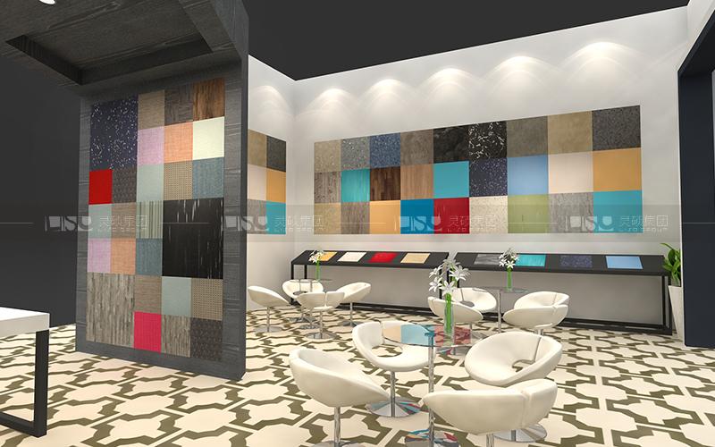 丽杰地板-地材展台设计搭建案例