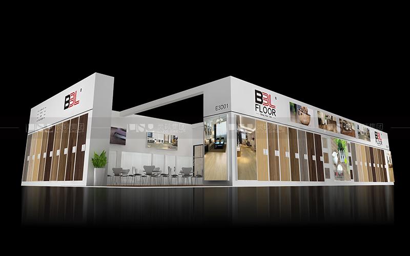 贝尔地板-地材展台设计搭建案例