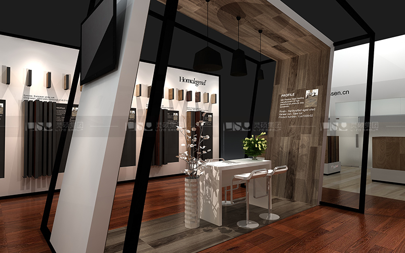 家传奇-地材展台设计搭建案例