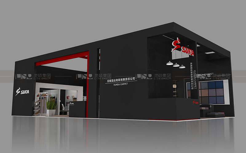 昆达-地材展台设计搭建案例