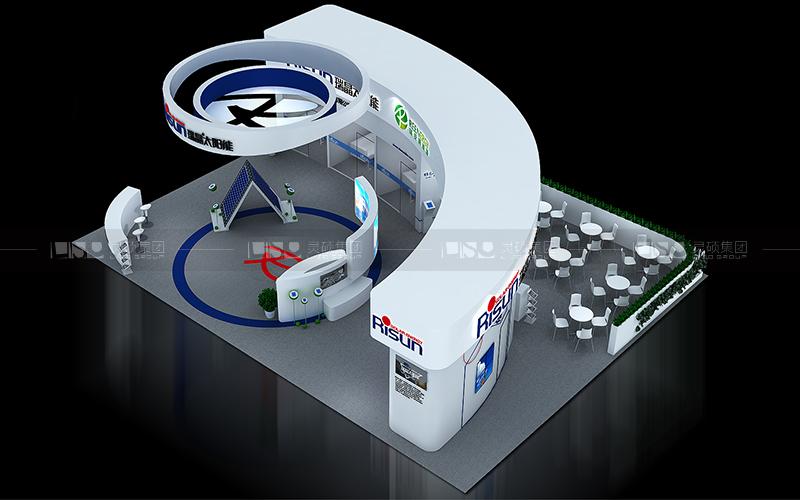 瑞晶-光伏展台设计搭建案例