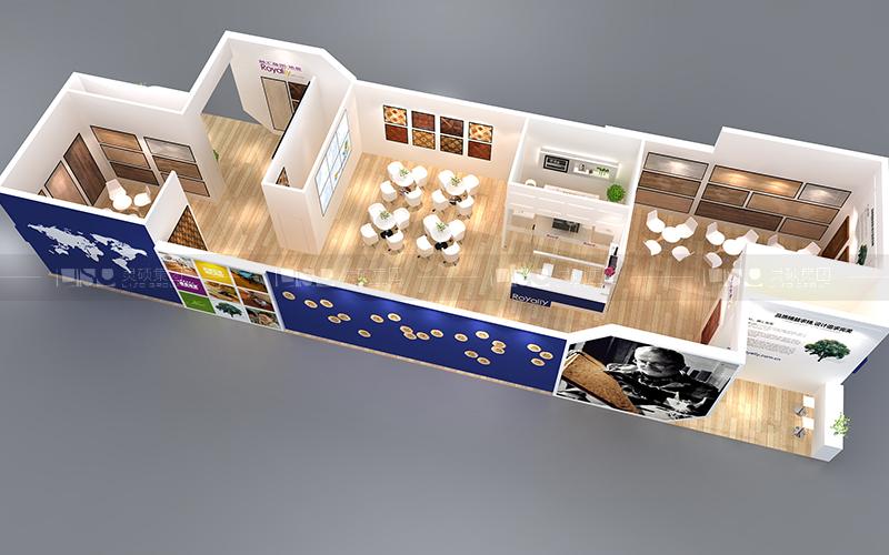 融汇地板-地材展台案例