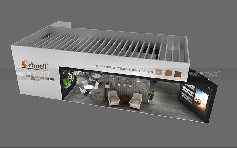 施奈尔-地材展台设计搭建案例