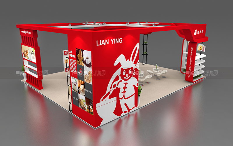 联盈-焙烤展台设计搭建案例