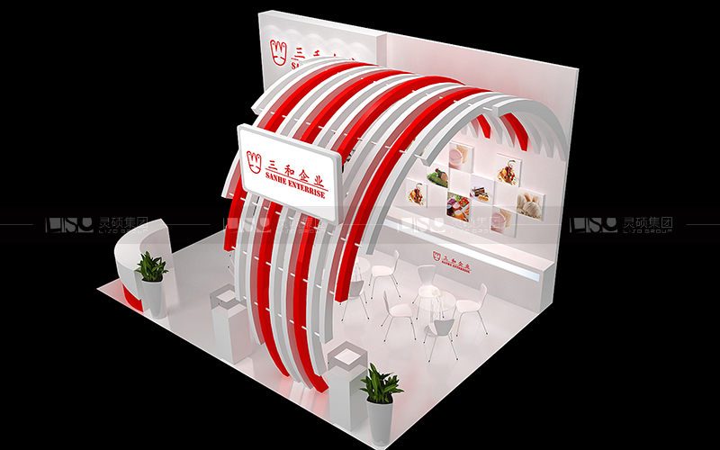 三和-食品添加剂展台设计搭建案例