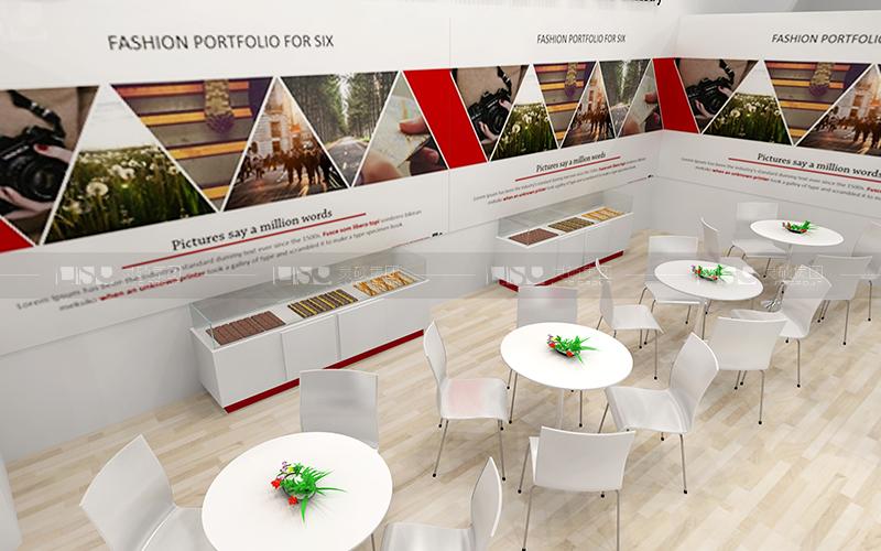 欣融-食品添加剂展台设计搭建案例