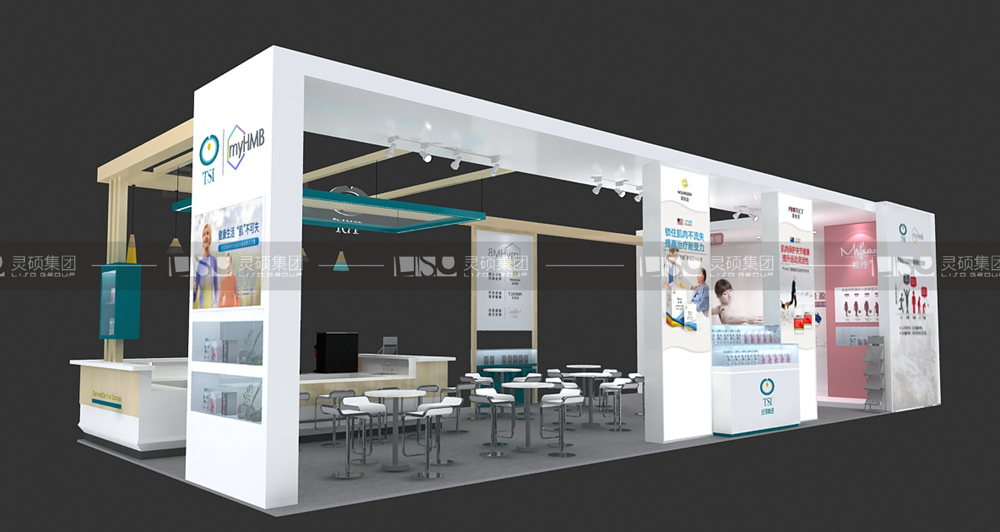 技源-食品添加剂展台设计搭建案例