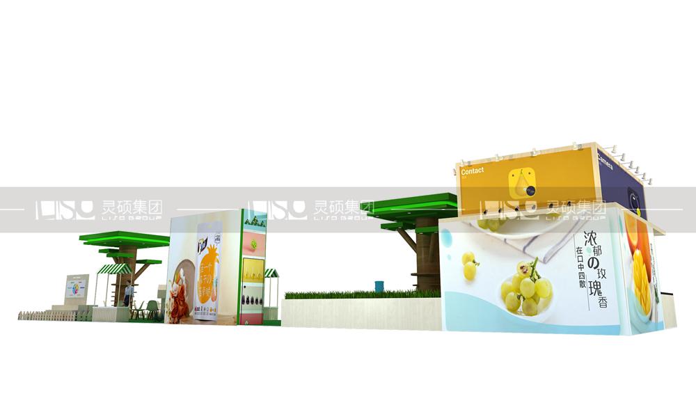 盟泽-食品添加剂展台设计搭建案例