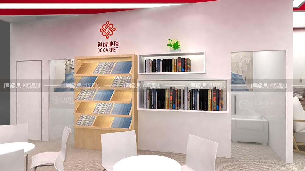 霖坤红塬-地材展台设计搭建案例