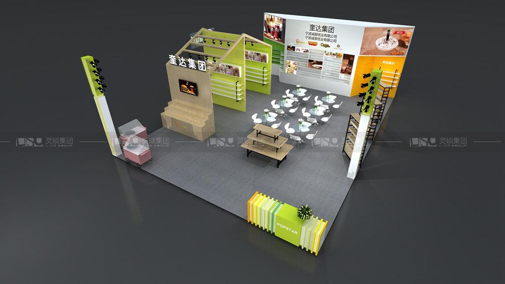 亮奎-酒店用品展台设计搭建案例
