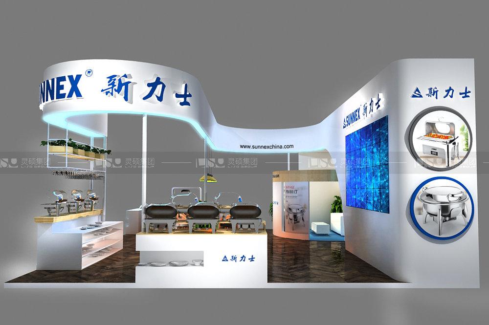 日升-酒店用品展台设计搭建案例