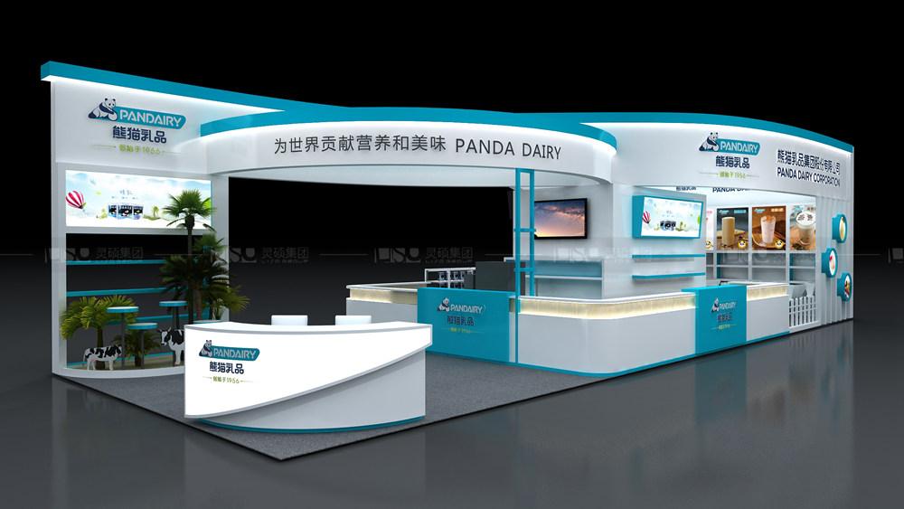 熊猫-酒店用品展台设计搭建案例