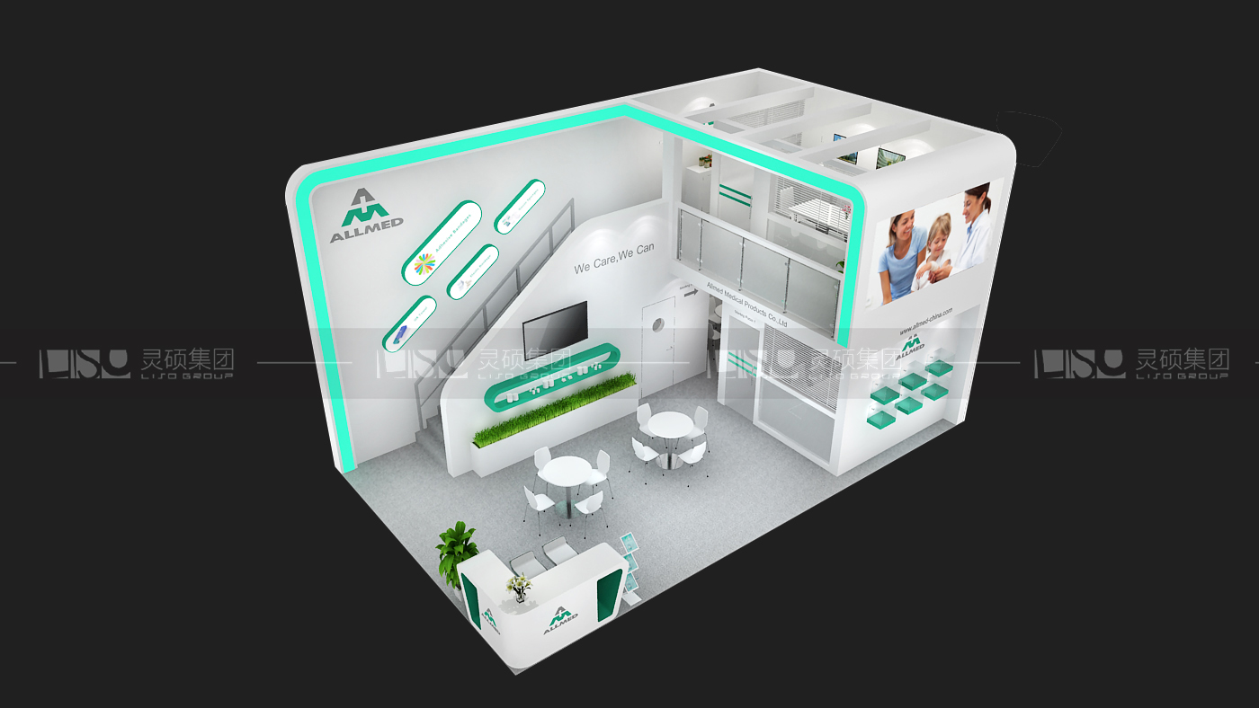 奥美-迪拜医疗展台设计搭建案例