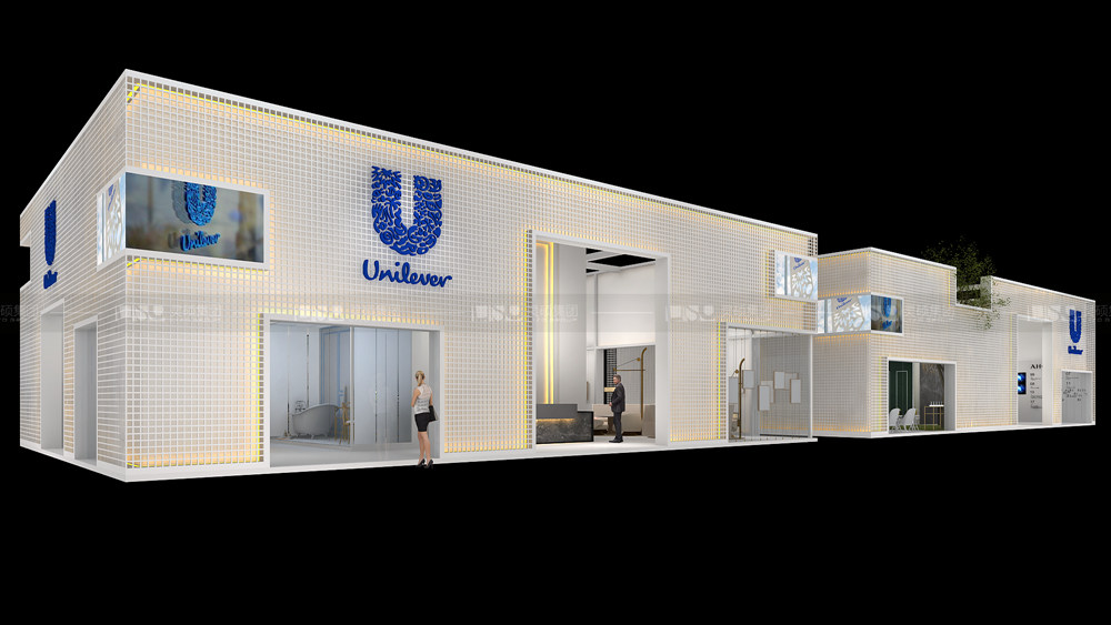联合利华-进博会展台设计搭建案例