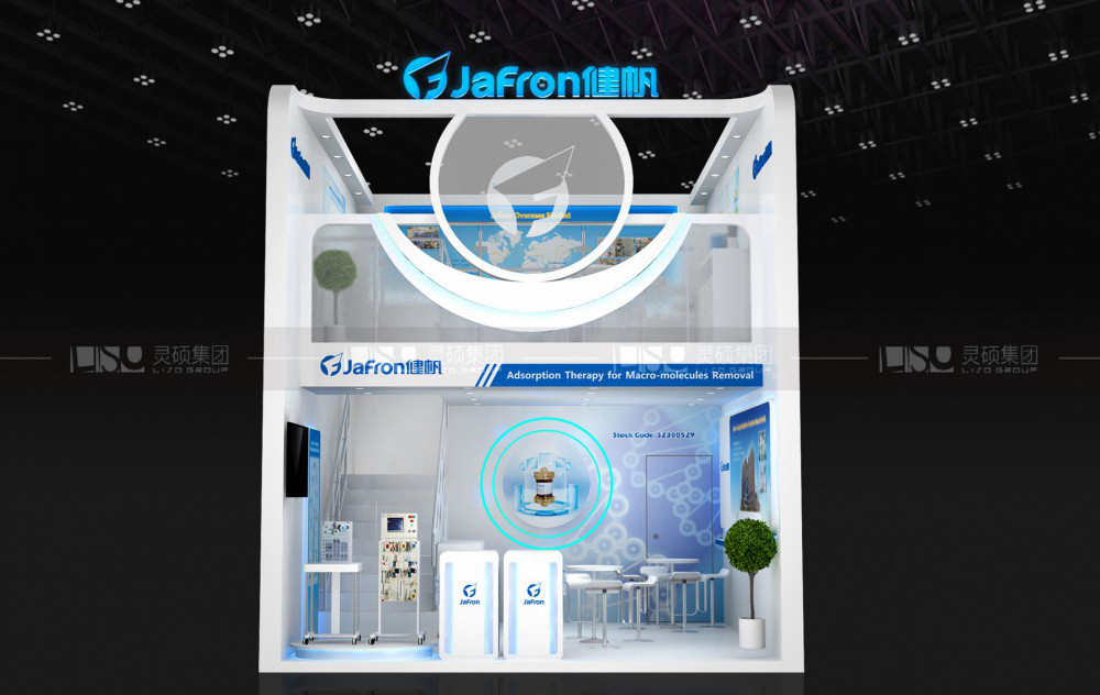 健帆-迪拜医疗展台设计搭建案例