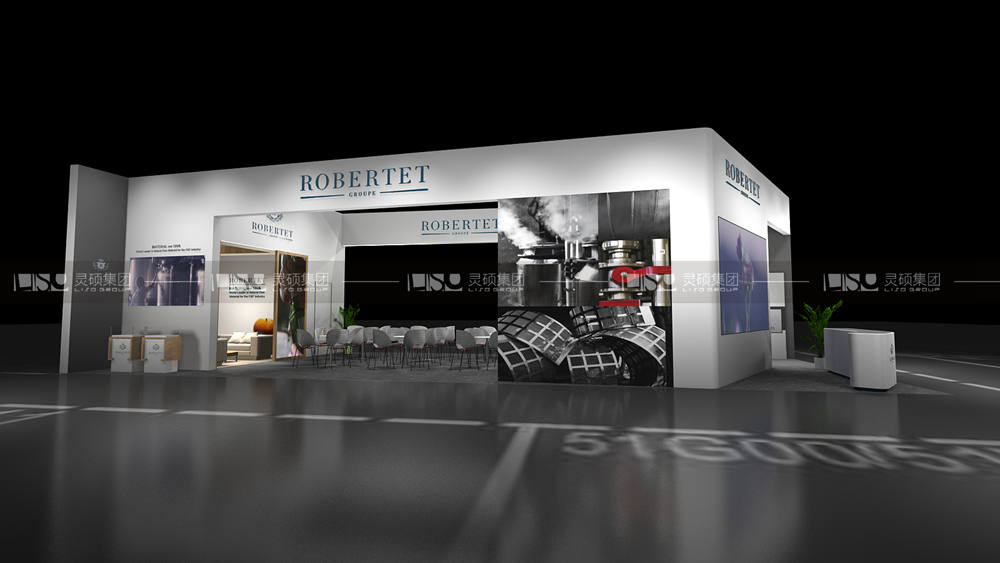 罗伯特-食品添加剂展台设计搭建案例