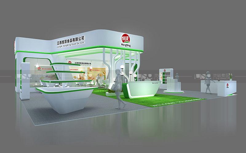 恒顶-食品添加剂展台设计搭建案例