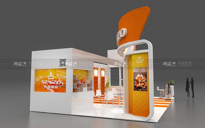 先卓食品-食品添加剂展台设计搭建案例