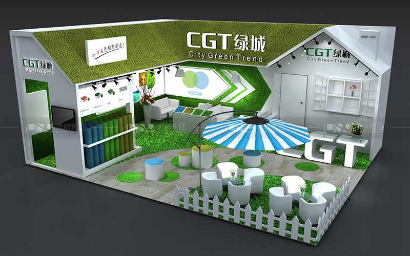 绿城-地材展台设计搭建案例