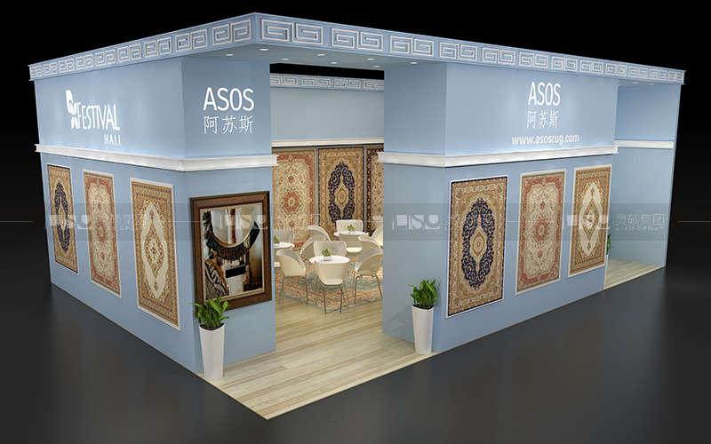 阿苏斯-地材展台设计搭建案例