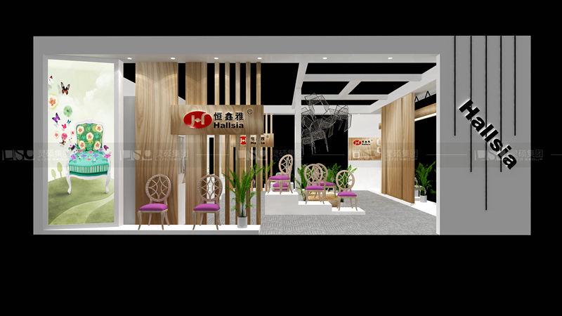 恒鑫雅-酒店用品展台设计案例