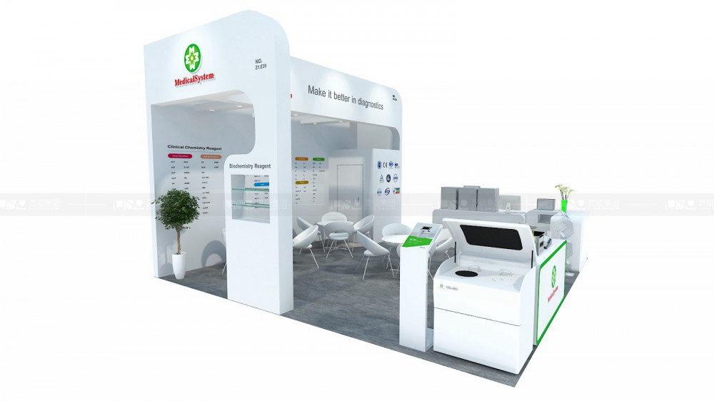 美康-迪拜实验室用品展台案例