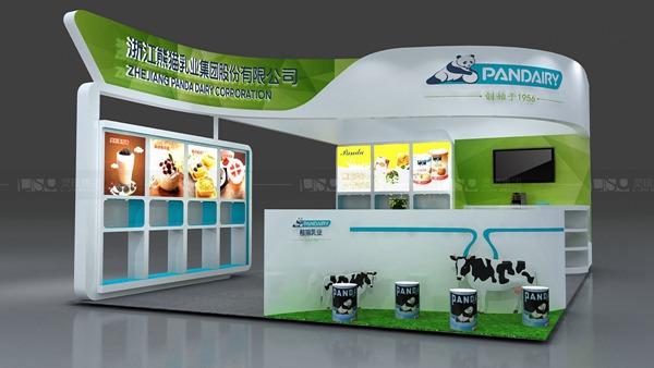 熊猫乳品-中食展展台案例