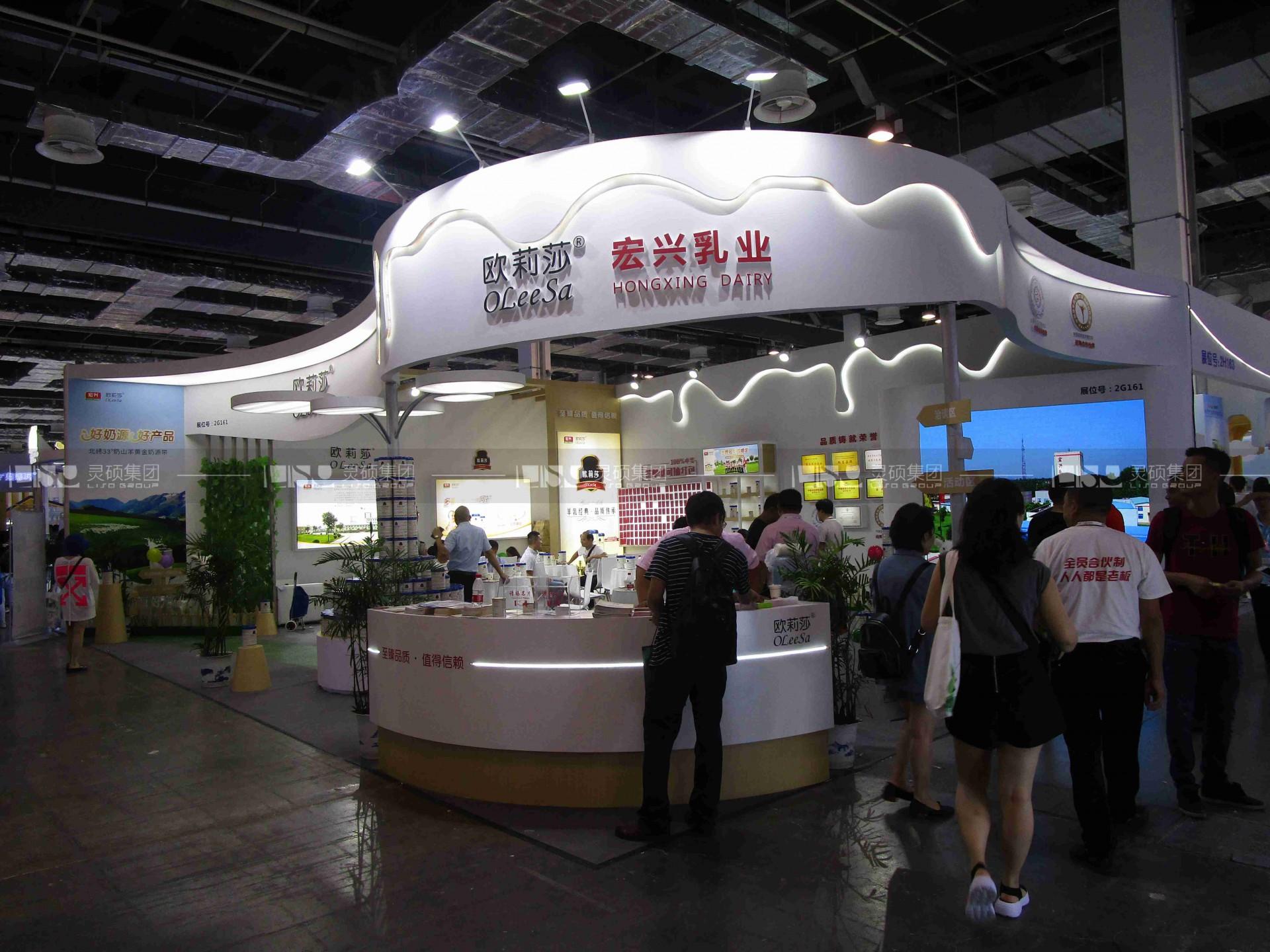 宏兴乳业-19届CBME中国孕婴童展展台案例