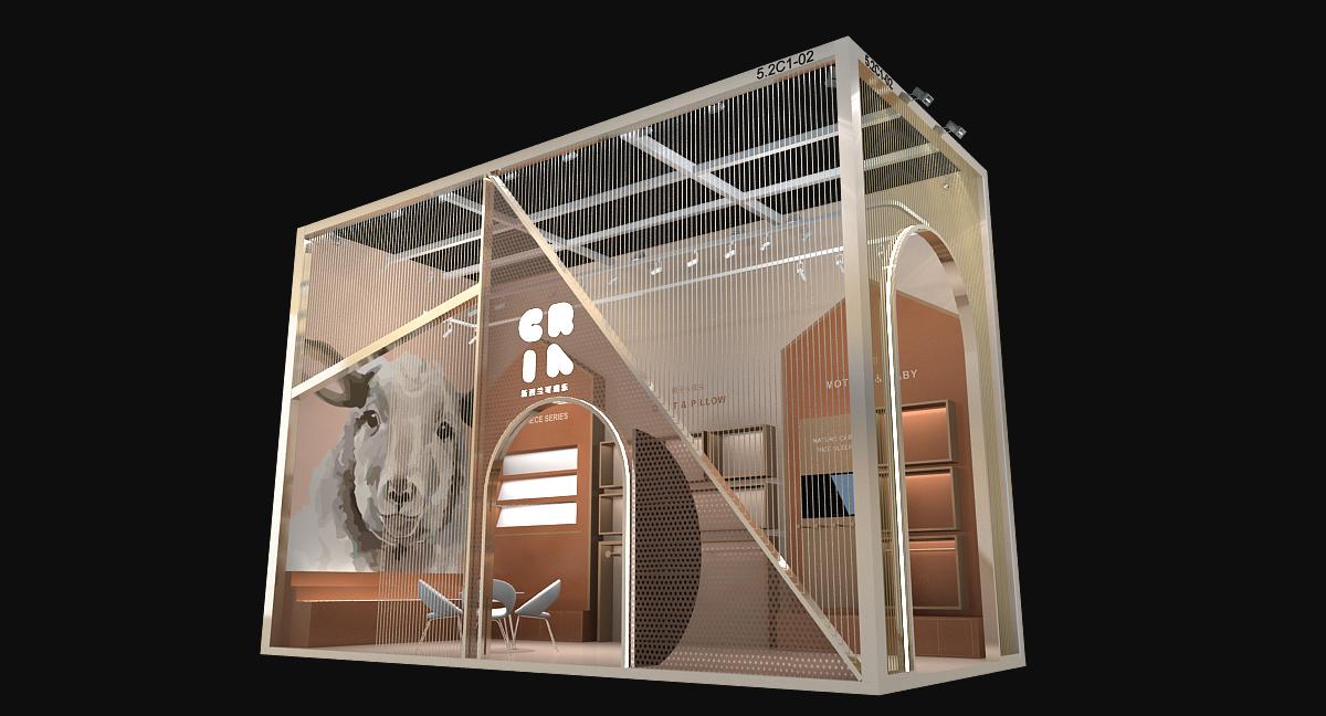 可瑞乐-第三届进博会展台设计搭建案例