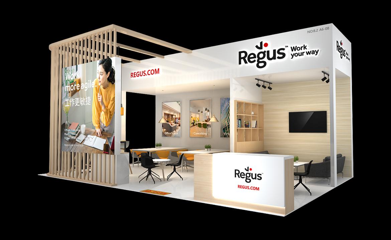 雷格斯-第三届进博会展台设计搭建案例