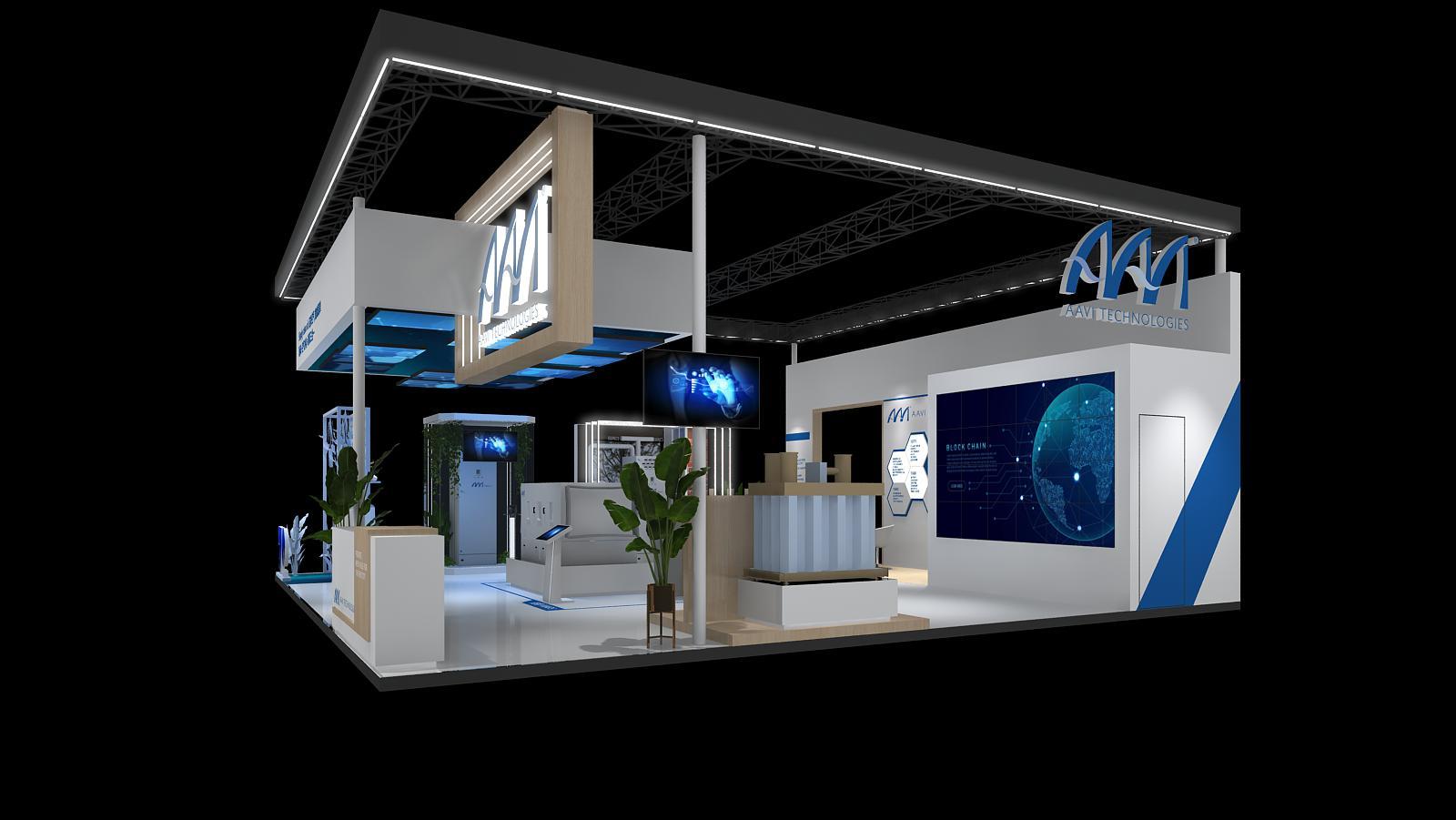 雅威AAVI-第三届进博会展台设计搭建案例