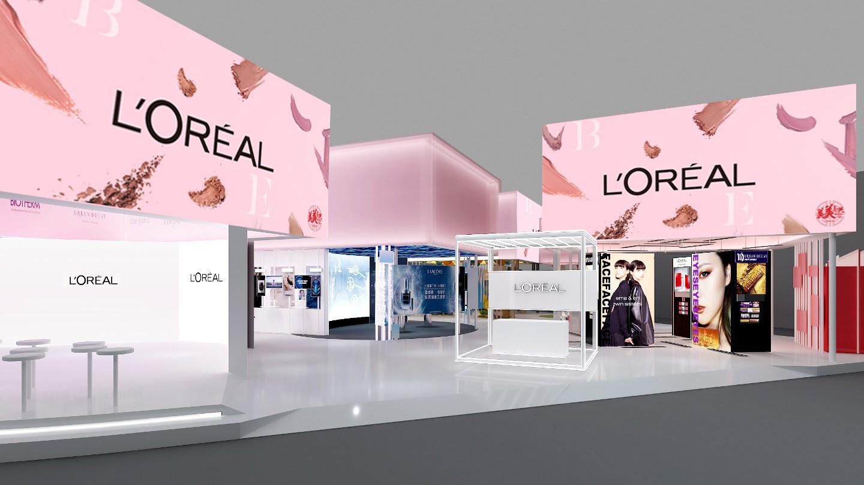 欧莱雅-2020年第三届进博会展台设计案例