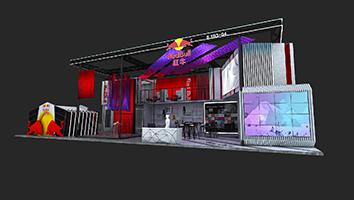 红牛-第三届进博会展台设计案例