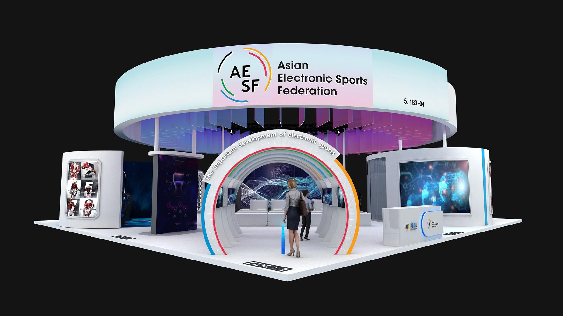度势体育-2020年第三届进博会展台案例