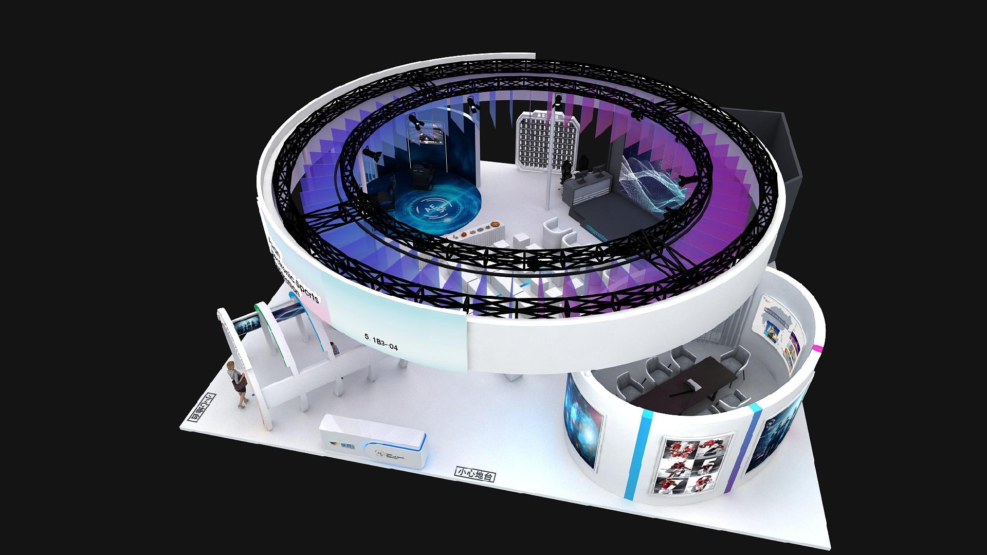 度势体育-第三届进博会展台设计案例