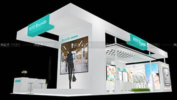 博然堂-美容展展台设计案例